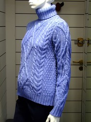 Pull IRELAND - Pull  Turtle Neck Blue